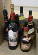 A quantity of mixed bottles including 1978 Pomerol, a bottle of Moet & Chandon, etc.