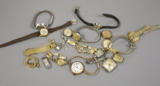 A quantity of ladies wrist watches