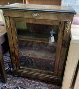 A Victorian walnut pier cabinet, width 76cm, depth 34cm, height 107cm