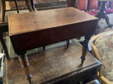 A Victorian mahogany bidet, width 55cm, depth 34cm, height 45cm