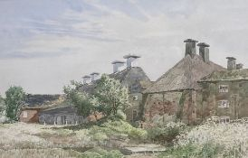 George William Miller (died 1991), watercolour, 'Snape Maltings, Spring;, signed and dated '81, 31 x