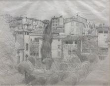 John Aldridge. R.A. (1905-1983), pencil drawing, 'Deyon from below', Studio stamp and dated Nov