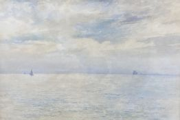 Hubert Arthur Finney, watercolour, Shipping on a calm sea, 33 x 46cm