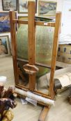 A wooden adjustable artist's studio easel, from the studio of George Bissill (1896-1973), Four