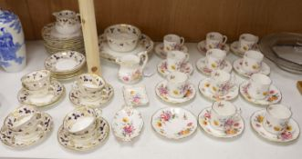 A Royal Crown Derby 'Derby Posies' part coffee service (30 pieces) and a Royal Crown Derby 'Fruiting