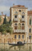 Laurenzio Laurenzi (1878-1946), watercolour, Desdemona's Palace, Venice, 1905, 25 x 16cm