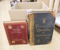 Two sporting related books, five volumes of modern Physician, various novels and collection of