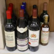 Three bottles of Chateau Lyonnat, 1985, two bottles of Laroche-Clauzet, 1989, two Chateay