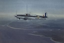 Peter A Henville (1925-2000), watercolour, Fairey Aviation Co Carrier Fighter Bomber, signed and