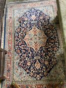 An Aubusson style wall hanging, 180 x 135cm and a North West Persian rug