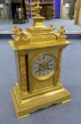 A Victorian ormolu mantel clock, height 40cmCONDITION: Gilding to the case looks original but has