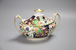 A Spode sucrier and cover painted in Imari style with pattern 1839CONDITION: Good condition
