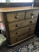 A Victorian mahogany chest of drawers, width 107cm, depth 49cm, height 112cm