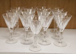 Waterford crystal drinking glasses (13)CONDITION: Three glasses marginally shorter (approx. 8mm)