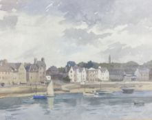 Frank Sherwin (1896-1985), watercolour, Fishing boats in harbour, signed, 36 x 46cm