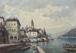 Mariano Moreno, oil on canvas, Lake of Como, signed, 48 x 68cm