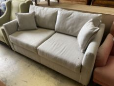 A modern contemporary two-seater sofa bed, length 174cm, width 95cm, height 86cm