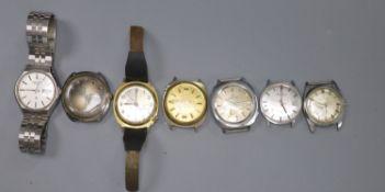 Seven assorted gentleman's wrist watches, including Avia, Alpen & Accurist.