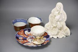 A small quantity of Japanese ceramics including a miniature Satsuma teapot