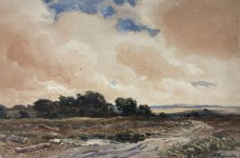 Wycliffe Eggington (1875-1951), R.I., A.R.C.A., watercolour, 'A Stormy day near Dartmoor', signed