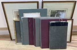 Four framed watercolours and drawings by George Smith (1829-1901) and 19 other drawings by the