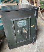 F. Whitfield & Co. - A Victorian cast iron safe, with key, width 60cm, depth 46cm, height 41cm