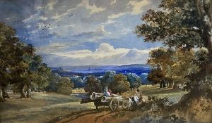 Mid 19th century, watercolour, View of Park Hatch, painted by the first wife of Sir A. Daley 1852,