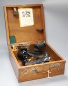 A Heath & Co 'Hezzanith' sextant in mahogany case, No. Y710 with Lilley & Reynolds Limited