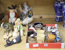 A large quantity of mixed ceramics including thimbles, Beswick, Royal Dux, etc.