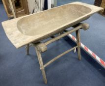 A 19th century flour trough on stand, width 117cm, depth 59cm, height 70cm
