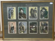 Barnett Freedman (1901-1958), a set of eight coloured lithographic illustrations for 'Oliver Twist',