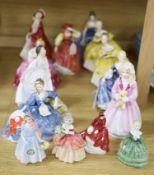 A collection of fourteen Royal Doulton figures