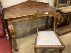 An early Victorian oak console table, width 126cm depth 58cm height 96cm
