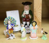 A group of mixed Continental ceramics including Limoges, Crown Staffordshire and Wade