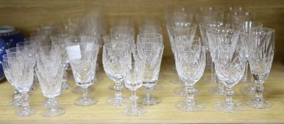 A collection of Tudor cut glass wares
