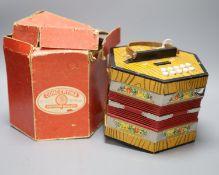 A Bandmaster concertina, rare in original box