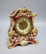 A French pottery mantel clock, c.1905, height 27cm