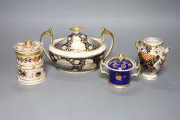 A Chamberlain's Worcester 'Malvern' pot pourri pot, a Derby Imari vase, a Minton sucrier, c.1810 and
