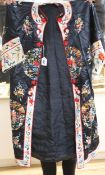A Chinese silk robe and a waist coat