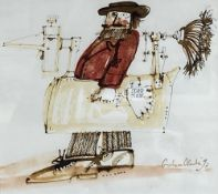 Graham Clarke (b. 1941), 'Stand Clear', signed and dated '93, watercolour, 16 x 17.5cm