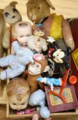 A mixed children's toys