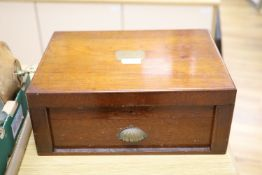 A Victorian Cooke & Kelvey mahogany cased canteen of plated flatware