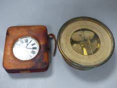 A G.A. Lenoir Wien Holosteric barometer and a cased Goliath eight day pocket watch