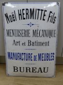 A French enamel sign