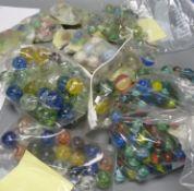 A collection of vintage marbles