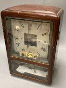 A Bulle Art Deco mahogany mantel clock, height 32cm
