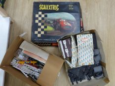 A quantity of Scalextric and accessories
