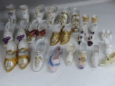 A collection of ceramic shoes