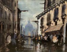 A. Wickham, watercolour, View of Venice, signed, 21 x 27cm