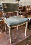 A George VI Coronation chair